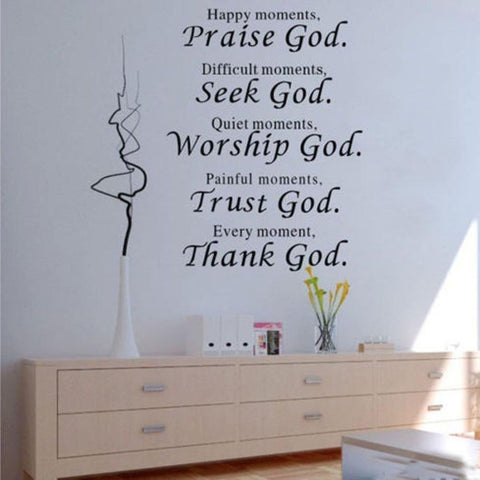 Image of Praise God muursticker 45x60cm - Csieraden
