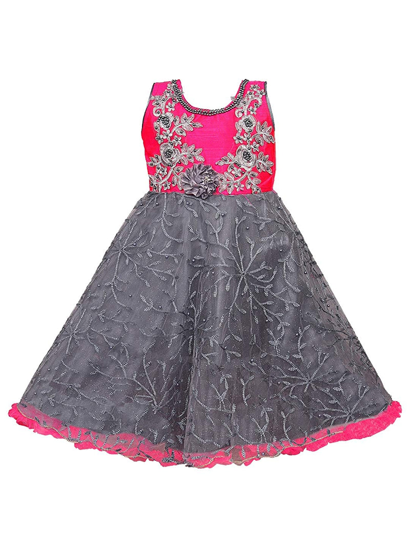 Girls Party Wear Gown  Birthday Dress  for Girls LF156pnk