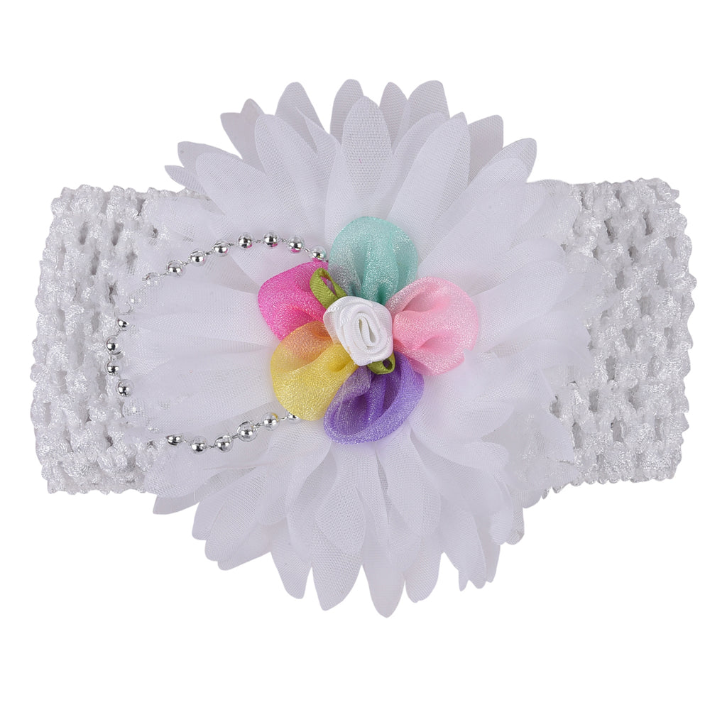 Baby Headband_White -  Wish Karo Dresses