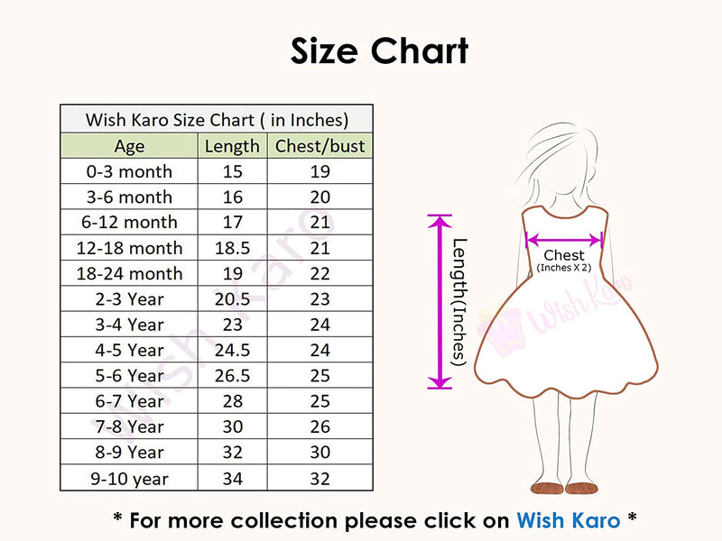 Baby Girls Cotton Frock Casual Dress for Girls ctn284pknw