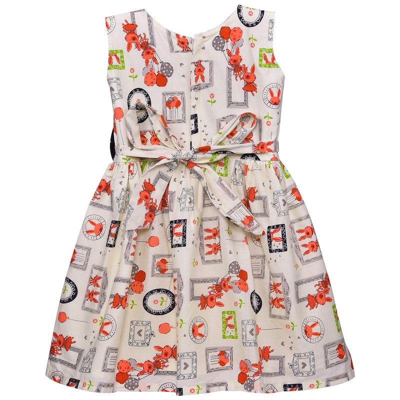 Baby Girls Cotton Frock Casual Dress for Girls ctn307w