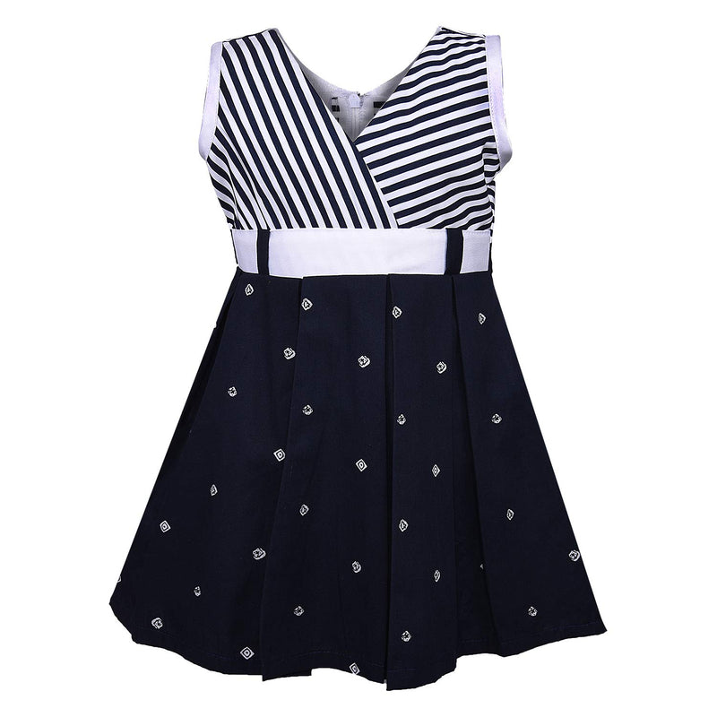 Baby Girls Cotton Frock Casual Dress for Girls-ctn054w