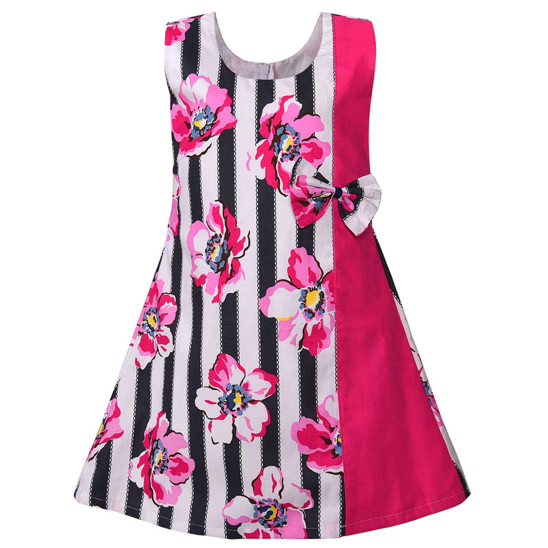 Baby Girls Cotton Frock Casual Dress for Girls ctn341pnk