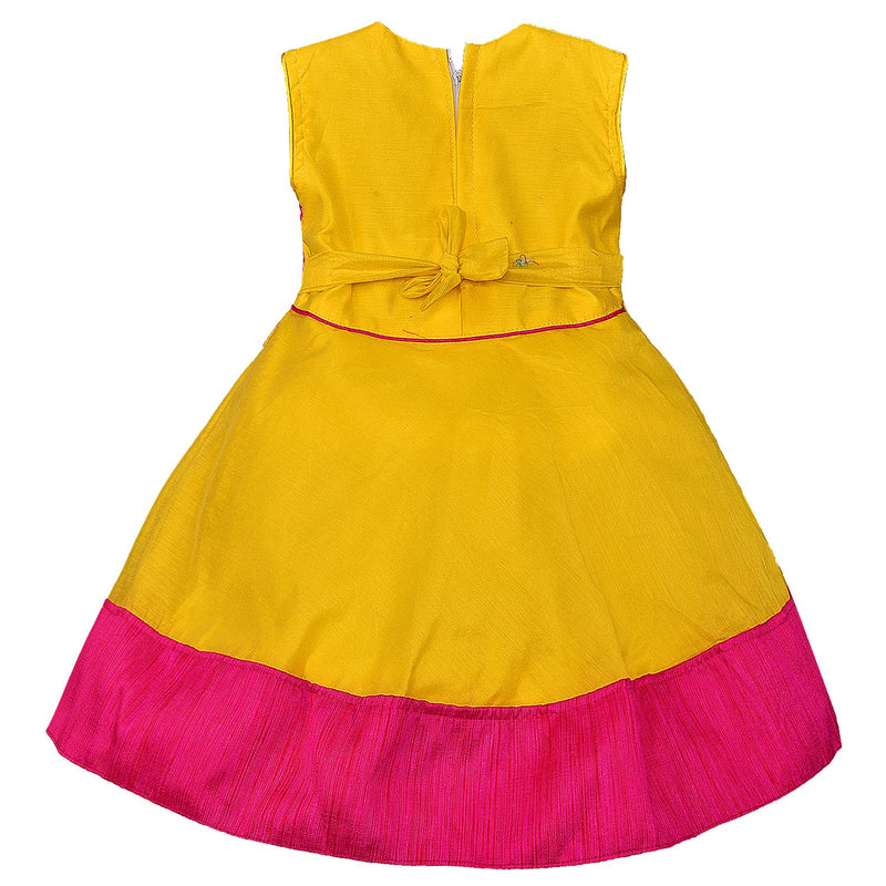 Baby Girls Party Wear Frock Birthday Dress For Girls fe2692pnk