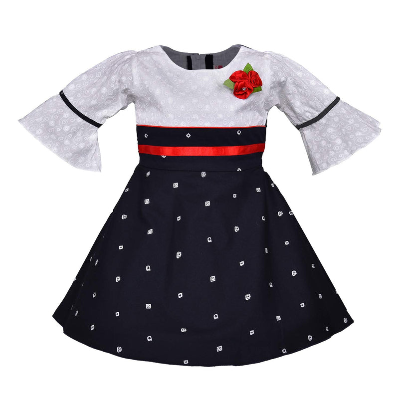 Baby Girls Cotton Frock Casual Dress for Girls-ctn321nb