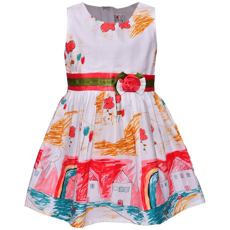Baby Girls Cotton Frock Casual Dress for Girls-ctn306org