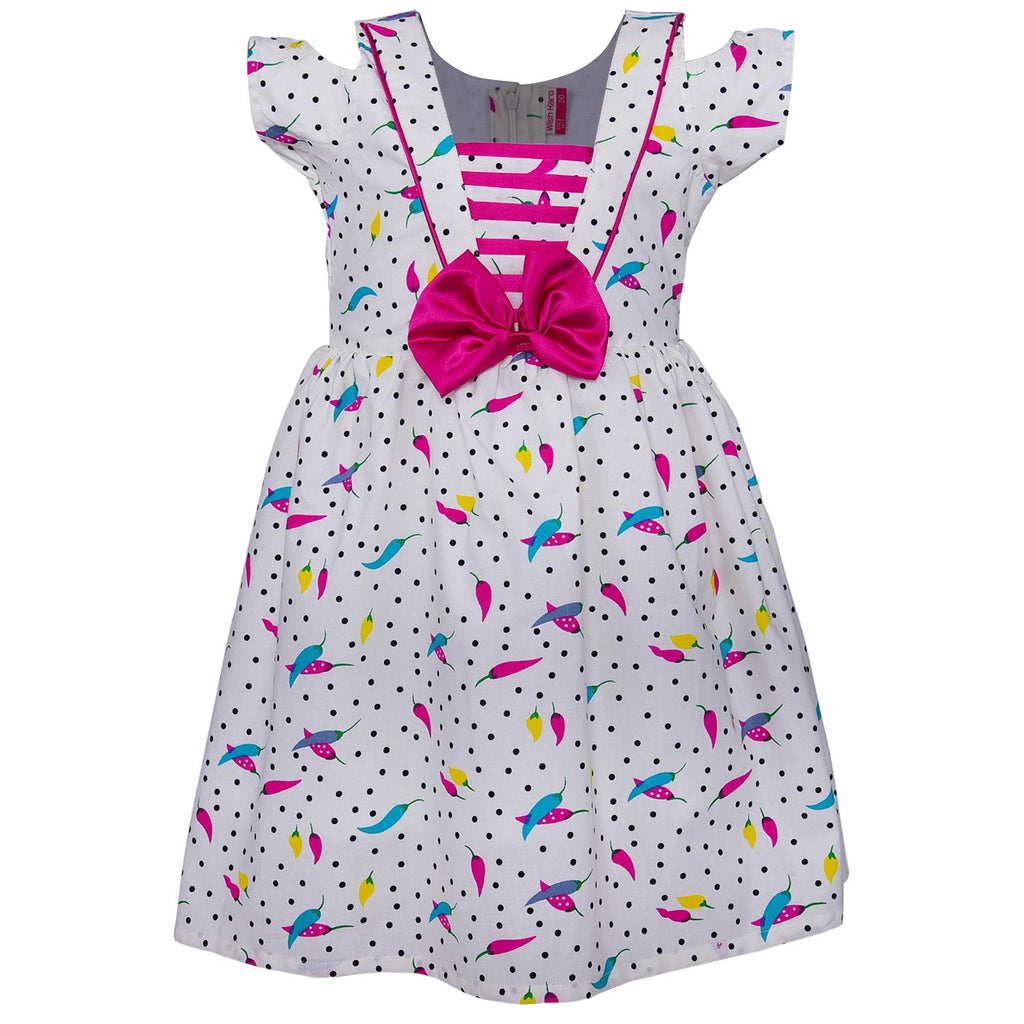 Baby Girls Cotton Frock Casual Dress for Girls ctn295pnk