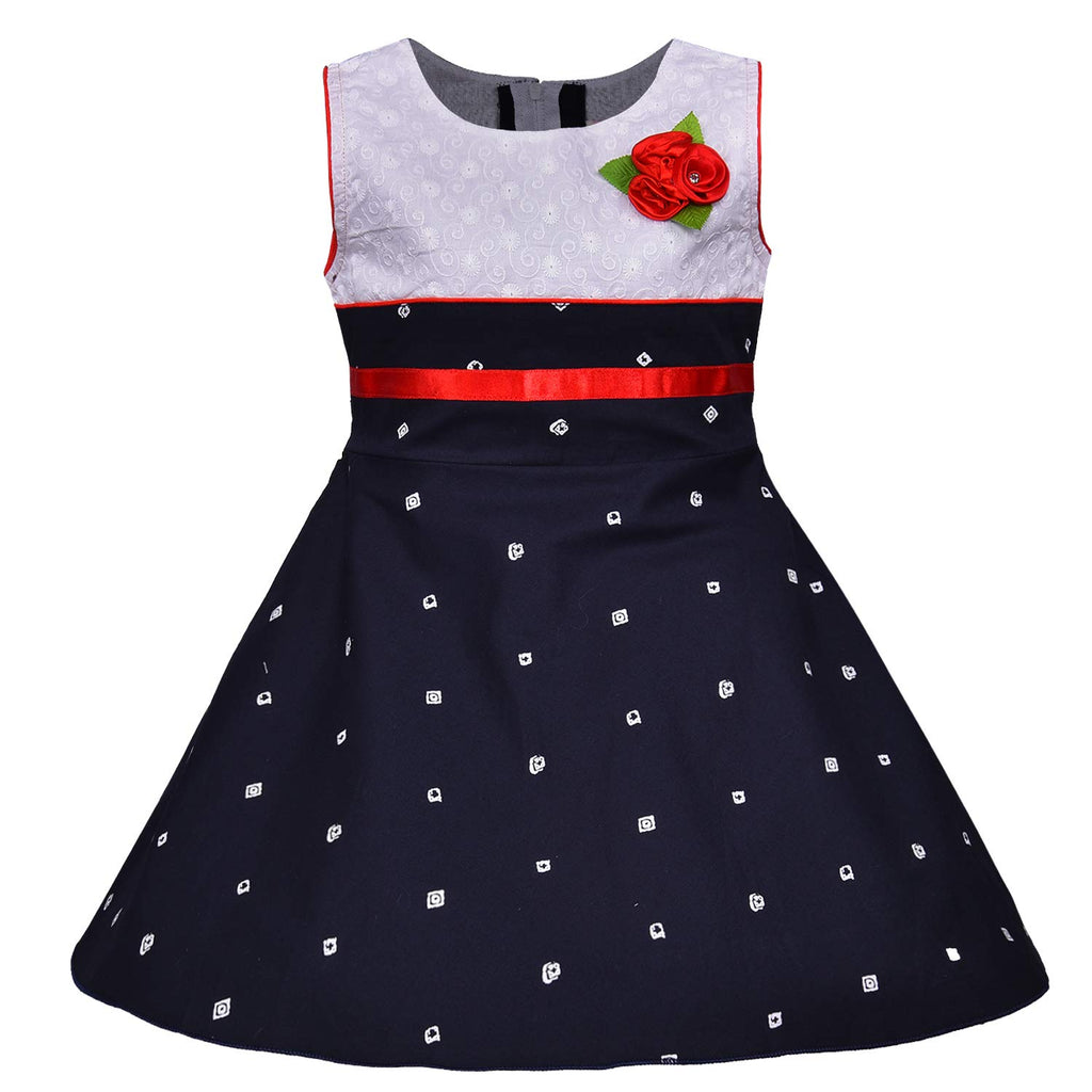 Baby Girls Cotton Frock Casual Dress for Girls-ctn054wnb