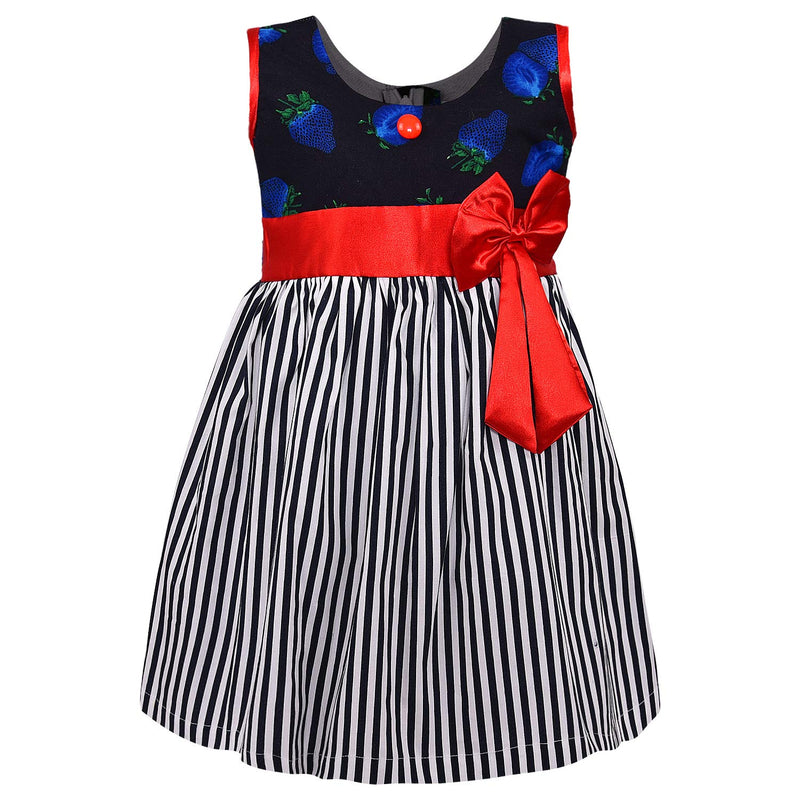 Baby Girls Cotton Frock Causal Dress for Girls ctn317blu