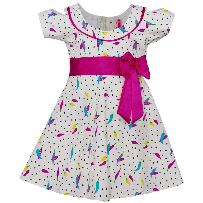 Baby Girls Cotton Frock Casual Dress for Girls ctn299pnk