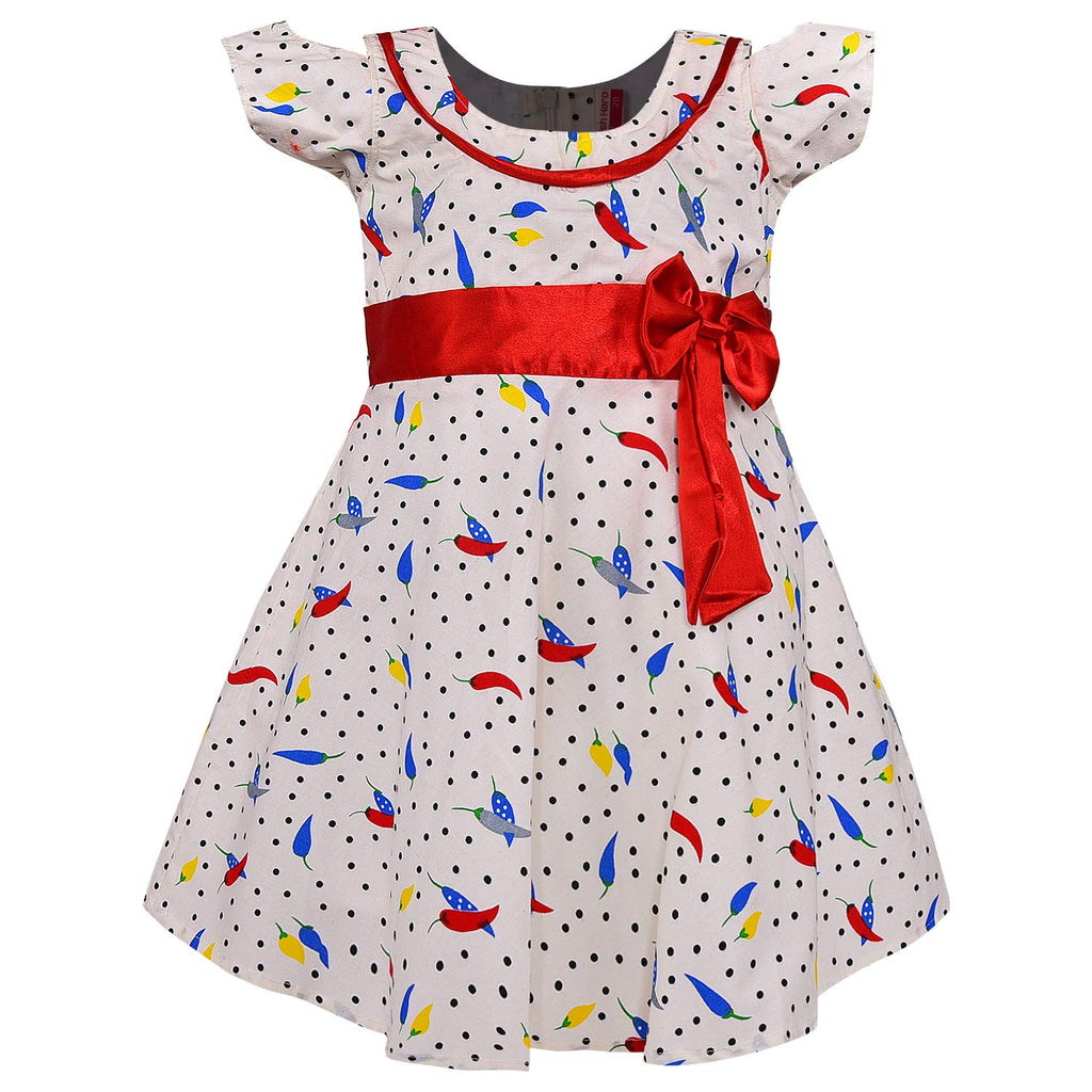 Baby Girls Cotton Frock Casual Dress for Girls-ctn299rd