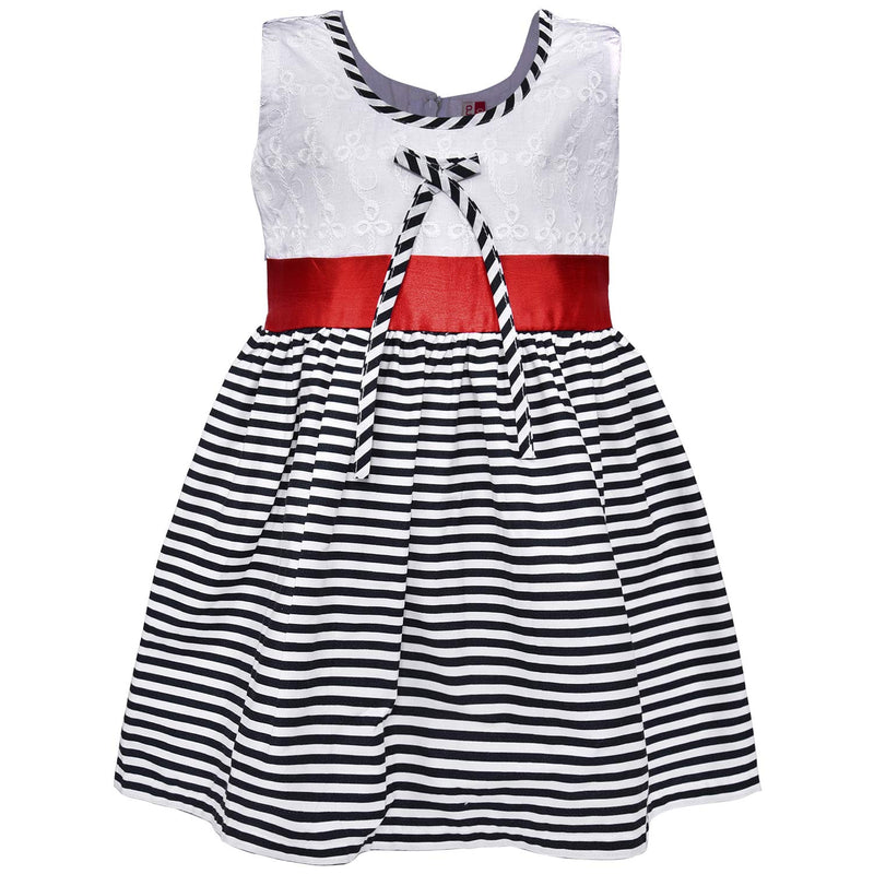 Baby Girls Cotton Frock Casual Dress for Girls ctn327wht