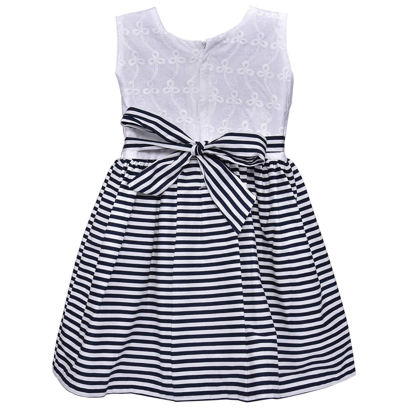 Baby Girls Cotton Frock Causal Dress for Girls ctn327wht