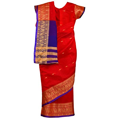 Traditional Art Silk Stitched Saree for Girls-sr02rd