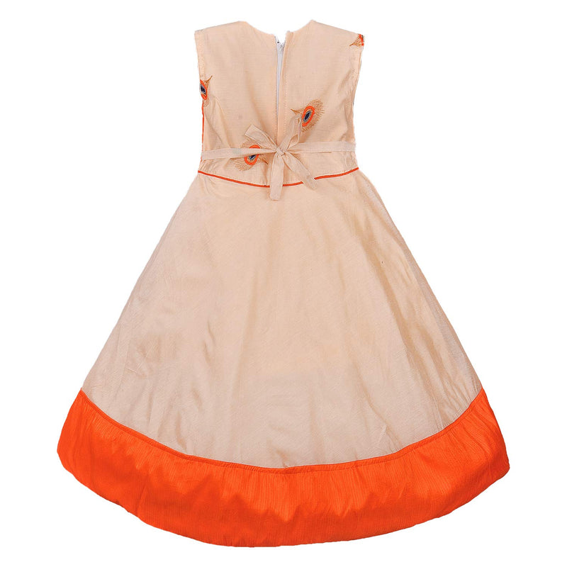 Girls Party Wear Long Dress Birthday Gown for Girls LF155orgnw