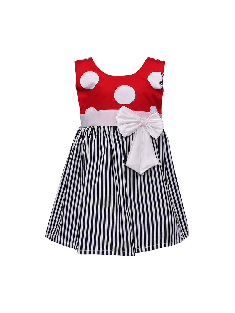 Baby Girls Cotton Frock Casual Dress for Girls-ctn217rd