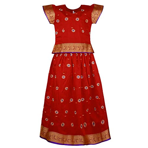 Girl's Traditional Art Silk Stitched Lehenga Choli for Girls-gc203rd