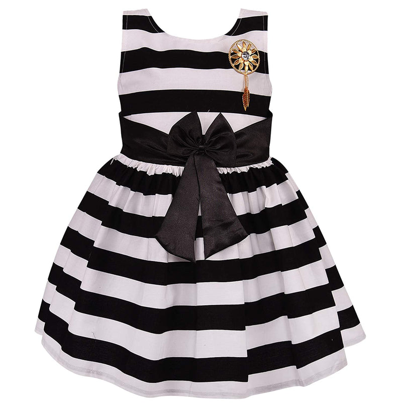 Baby Girls Cotton Frock Casual Dress for Girls ctn265blk