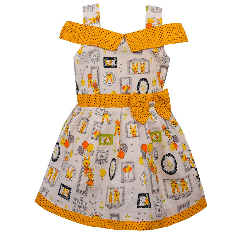Baby Girls Cotton Frock Casual Dress for Girls ctn355y