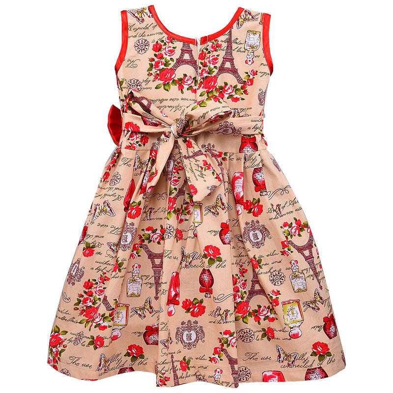 Baby Girls Cotton Frock Casual Dress for Girls ctn287rd