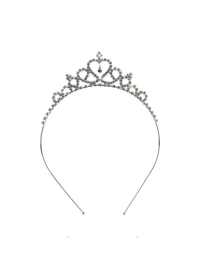 Silver plated Crystal Crown Princess Tiara Hairband for Baby Girls -  Wish Karo Dresses