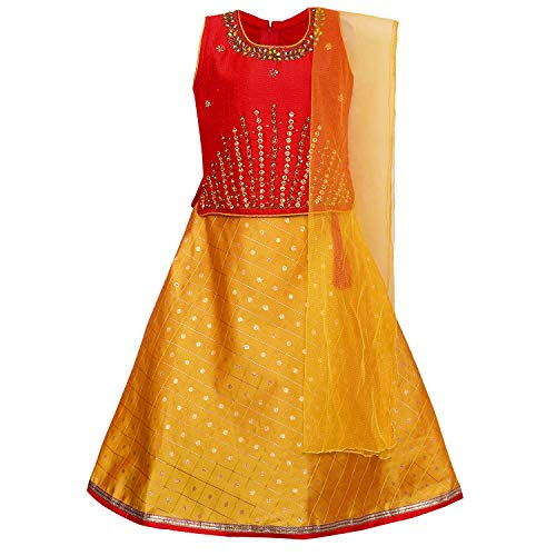 Baby Girl's Stitched Ghaghra Choli, Leghnga Choli, Chania Choli Ethnic Wear for Girls-gc201rd