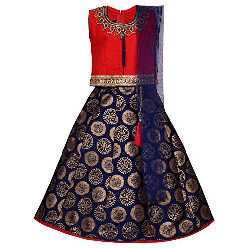 Girl's Stitched Ghaghra Choli, Leghnga Choli, Chania Choli Ethnic Wear for Girls-gc202rd