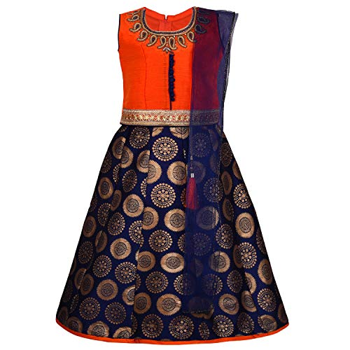 Baby Girl's Stitched Ghaghra Choli, Leghnga Choli, Chania Choli Ethnic Wear for Girls-gc202org