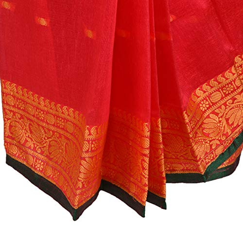 Traditional Art Silk Stitched Saree for Girls-sr02t