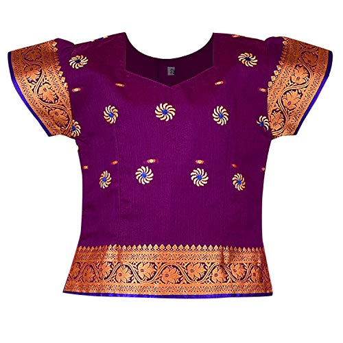 Girl's Traditional Art Silk Stitched Lehenga Choli for Girls-gc203vlt