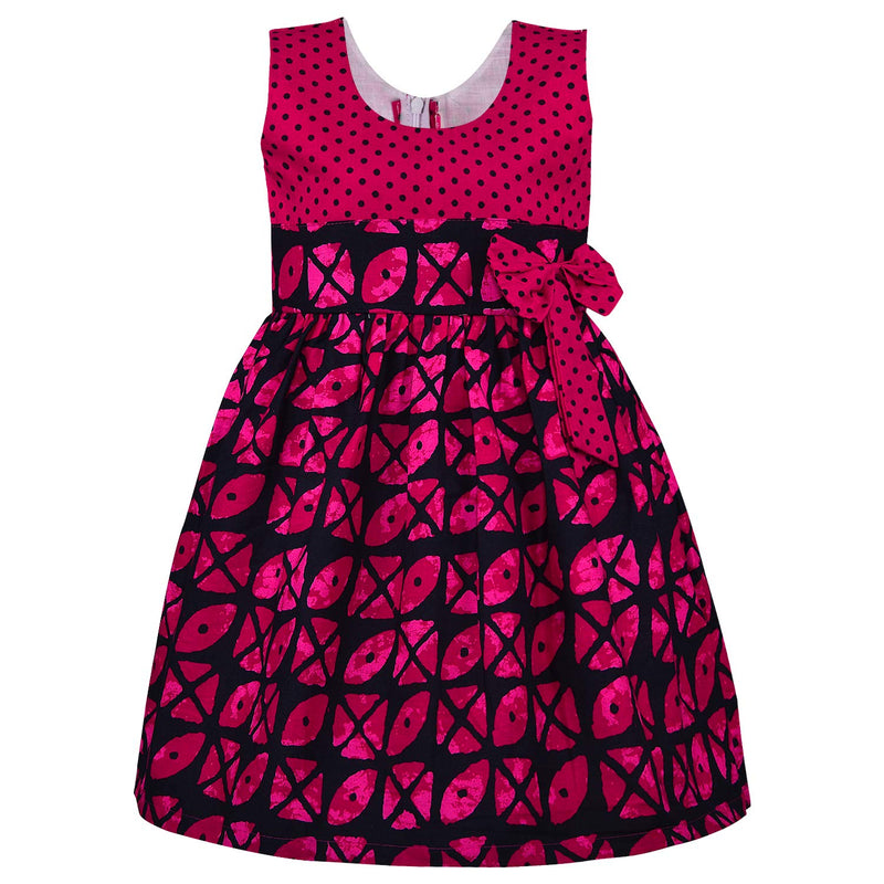 Baby Girls Cotton Frock Casual Dress for Girls ctn359pnk