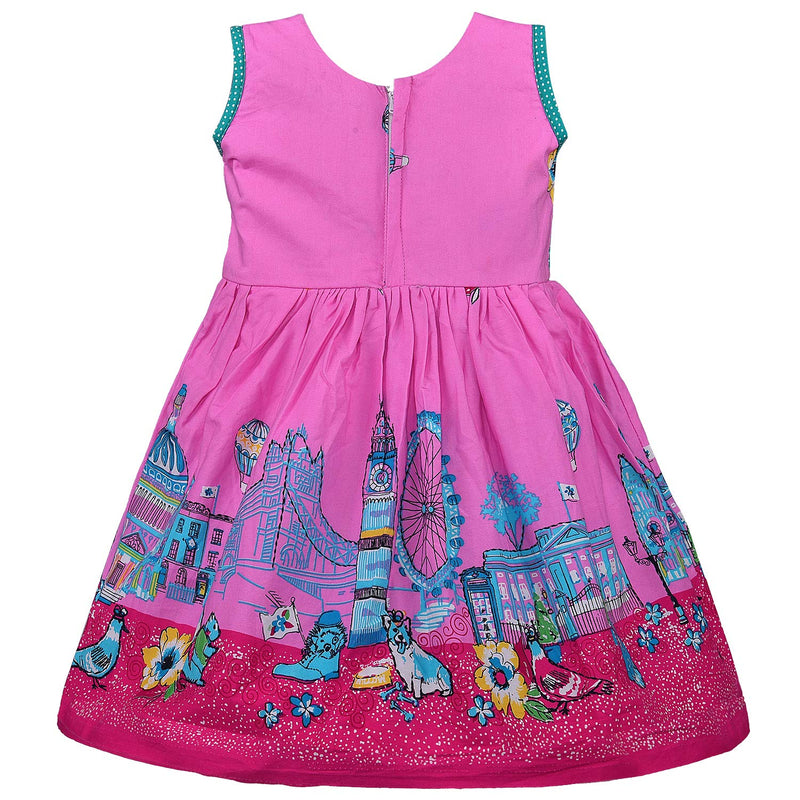 Baby Girls Cotton Frock Casual Dress for Girls ctn332pnk