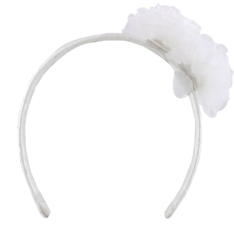 Bby Girls fluffy hairband white -  Wish Karo Dresses