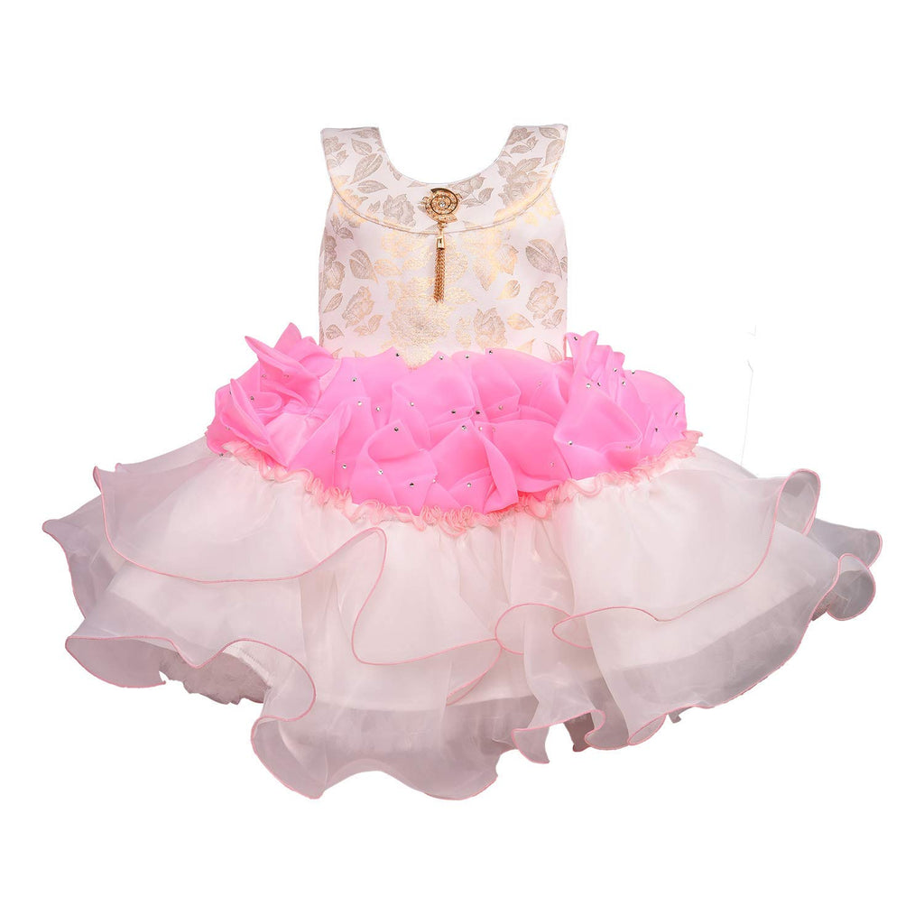 Baby Girls Party Wear Frock Dress bxa164pnk -  Wish Karo Dresses