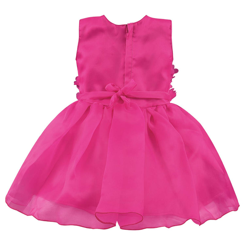 Baby Girls Party Wear Frock Birthday Dress For Girls bxa198pnk