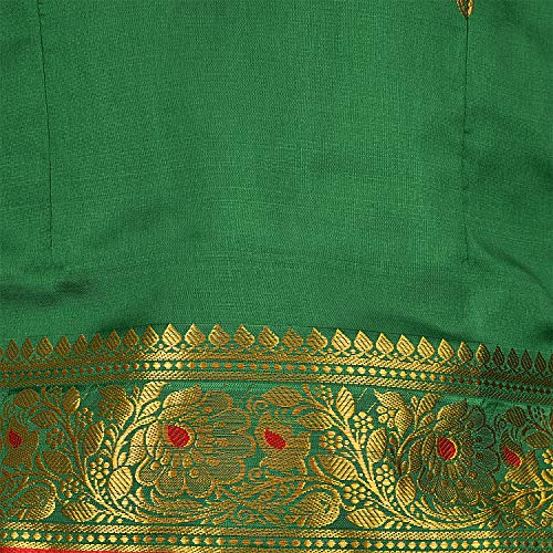 Girl's Traditional Art Silk Stitched Lehenga Choli-gc205grn