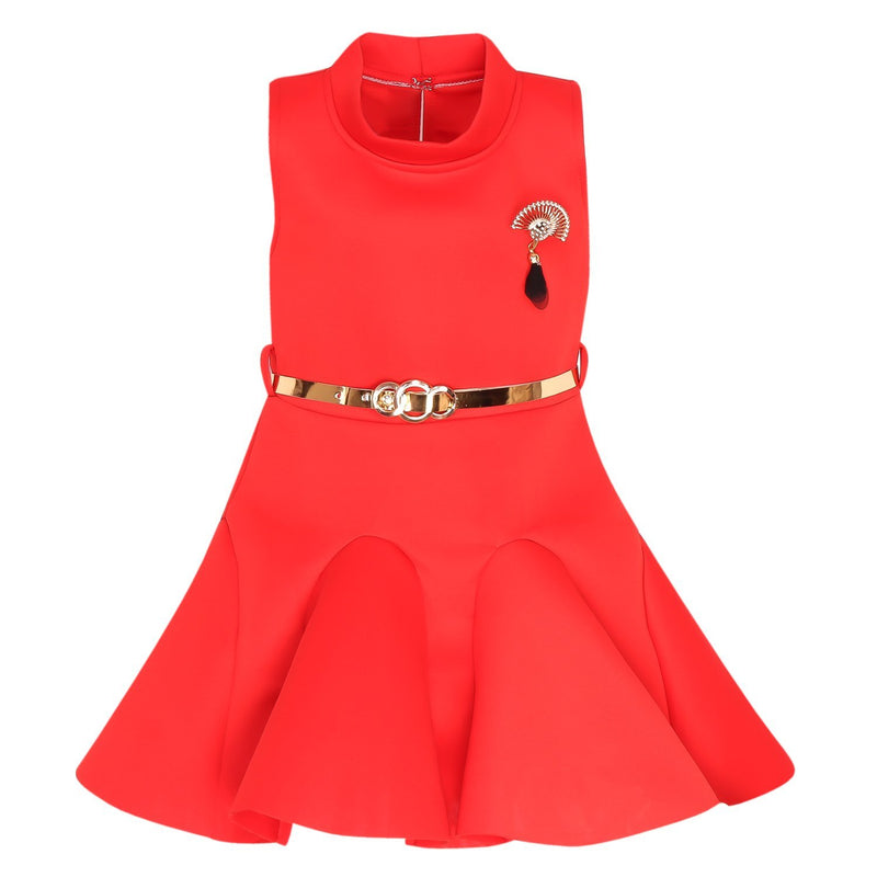 Baby Girls Party Wear Frock Dress fe2438rd -  Wish Karo Dresses