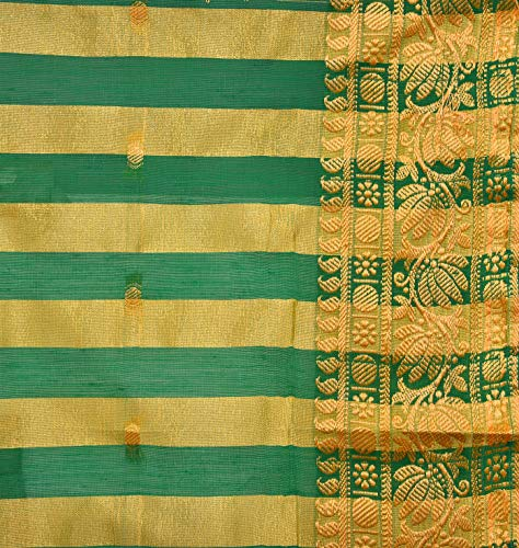 Traditional Art Silk Stitched Saree for Girls-sr02rb