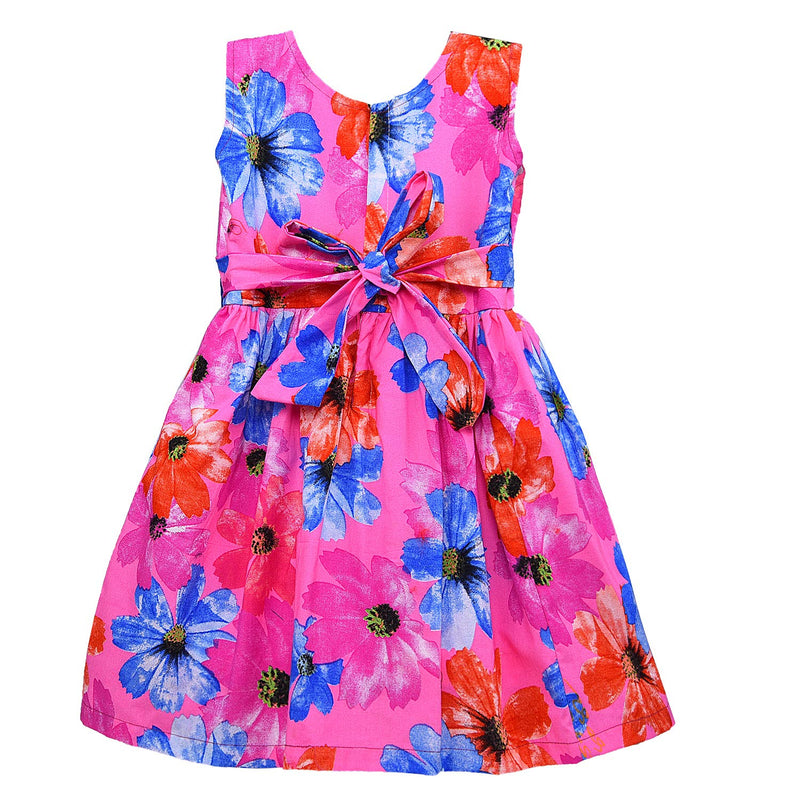 Baby Girls Cotton Frock Casual Dress for Girls ctn286pnk