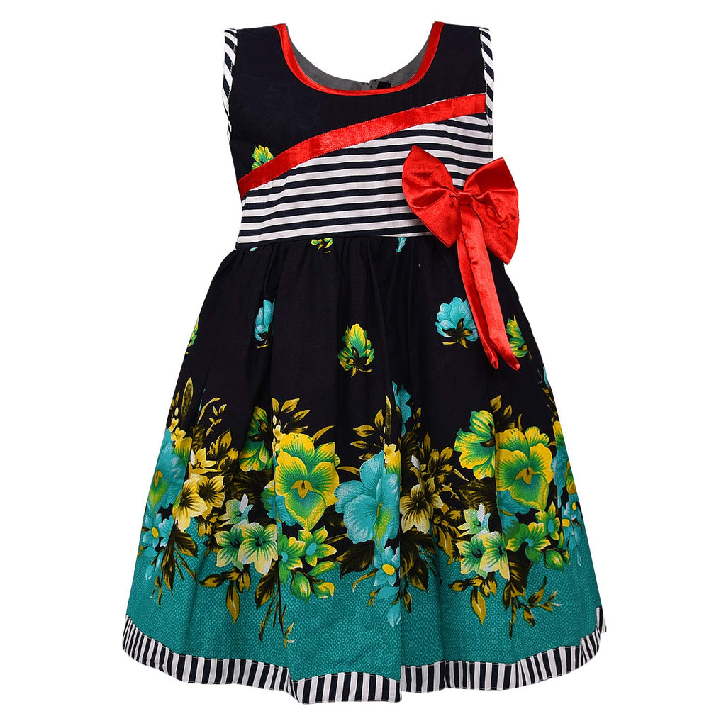 Baby Girls Cotton Frock Causal Dress for Girls ctn285grn