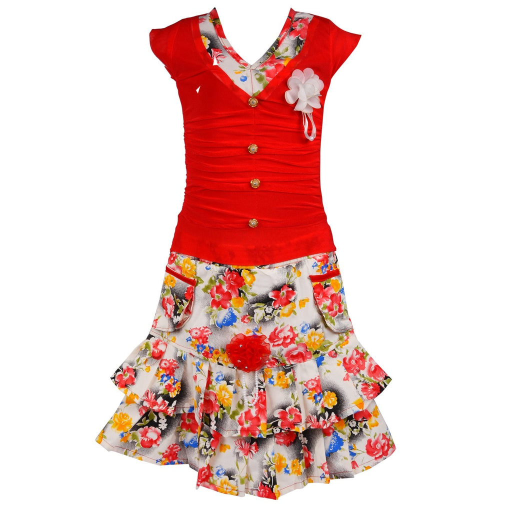 Baby Girl Casual Wear Skirt and Top Dress CSL041 -  Wish Karo Dresses