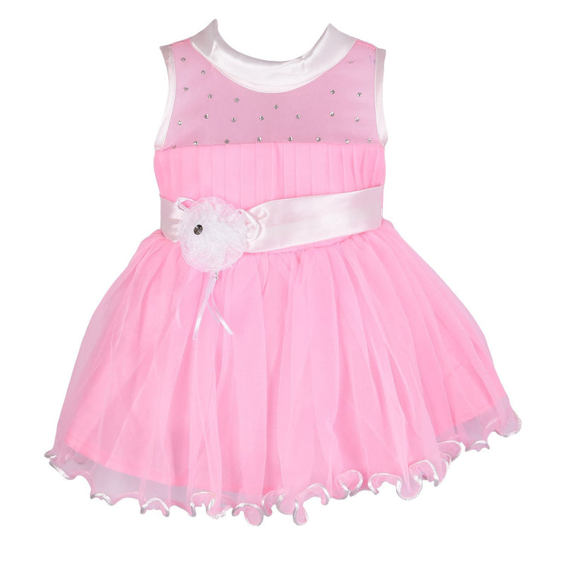 Baby Girls Party Wear Frock Dress Fr1014pnk -  Wish Karo Dresses