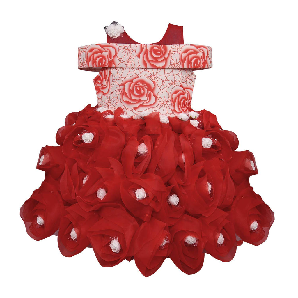Baby Girls Party Wear Frock Dress DN - (bxa174rd) -  Wish Karo Dresses
