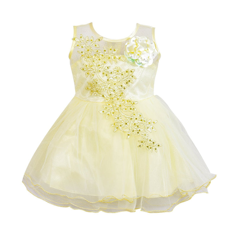 Baby Girls Party Wear Frock Dress Fe1051crm -  Wish Karo Dresses