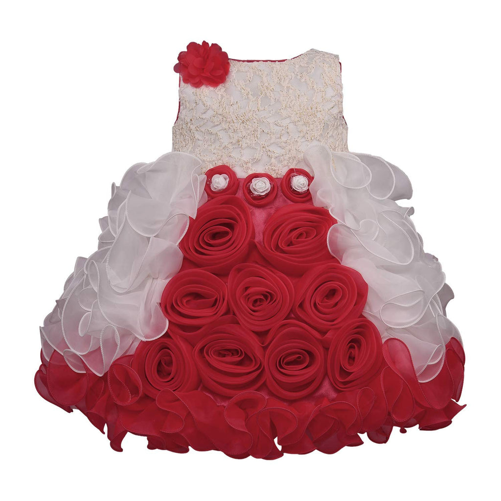 Baby Girls Party Wear Frock Dress bxa170rd -  Wish Karo Dresses