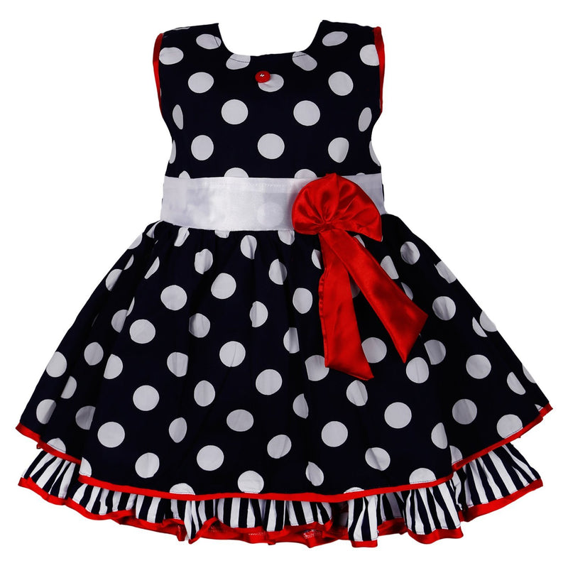 Baby Girl's Cotton Frock Dress DN125nb -  Wish Karo Dresses