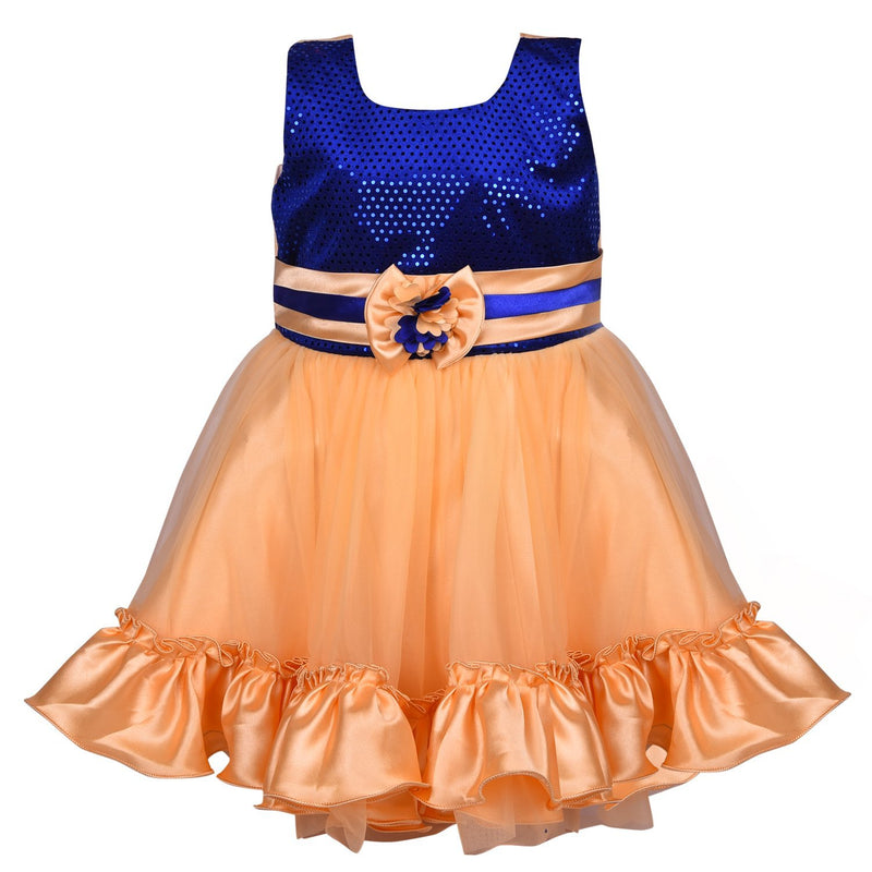 Baby Girls Party Wear Frock Dress DN fr130bge -  Wish Karo Dresses