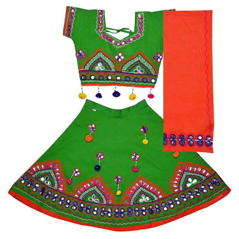 Girl's Cotton Ghaghra Choli, Leghnga Choli, Chania Choli 143grn -  Wish Karo Dresses