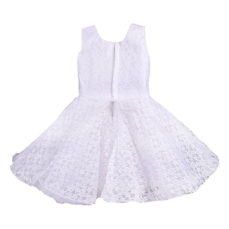 baby girls Party Wear Frock Dress bx36wht -  Wish Karo Dresses