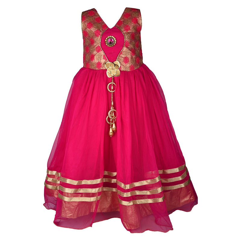 Girls Long Frock Dress fr22LF -  Wish Karo Dresses